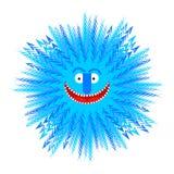 Snowflake smile. Winter Blue Snowflake symbol of winter. Royalty Free Stock Photo