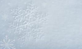 Snowflake on snow Royalty Free Stock Image