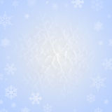 Snowflake on snow Stock Images