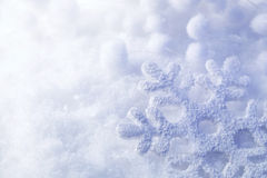 Snowflake in the snow Stock Photo