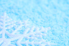 Snowflake in snow Royalty Free Stock Photo