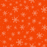 Snowflake and snow red seamless vector. Background for New Year and Christmas. Can be used for wallpapers, curtain, plates, surface textures, wrapping Stock Image