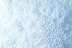 Snowflake on snow Stock Photo