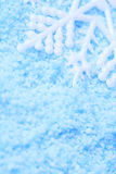 Snowflake in snow Royalty Free Stock Images