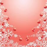 Snowflake, snowball Christmas tree. Christmas trees made from snowflakes with snowflake christmas ball ornaments hanging from branches. Also available as a Royalty Free Stock Photo