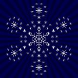 Snowflake from snowflakes. Snowflake on background, winter christmas object, complex form Stock Images