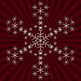 Snowflake from snowflakes. Snowflake on background - winter christmas object, complex form Royalty Free Stock Image