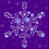 Snowflake of snowflakes Stock Image