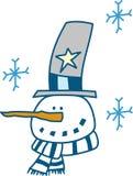 Snowflake Snowman Stock Photography