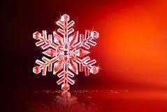snowflake som sparkling arkivbild