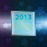 Snowflake with square frame vector Royalty Free Stock Photography