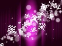 Snowflake Stage Represents Ice Crystal And Celebrate Royalty Free Stock Images