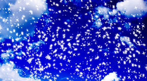 Snowflake stars Stock Images