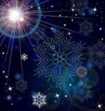 Snowflake stars abstract vector Royalty Free Stock Image