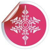 Snowflake sticker Stock Image