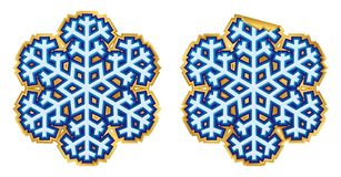 Snowflake sticker (vector) Stock Images