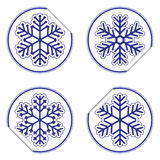 Snowflake stickers Stock Photo
