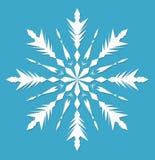 snowflake Stile piano dell'icona del fiocco di neve illustrazione di stock