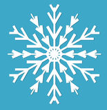snowflake Style plat d'icône Éléments de conception Illustration de vecteur illustration libre de droits