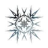 snowflake Su fondo bianco illustrazione di stock