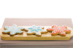 Snowflake sugar cookies Royalty Free Stock Photo