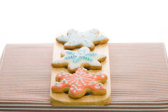 Snowflake sugar cookies Royalty Free Stock Photography