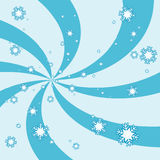Snowflake swirl Stock Photos