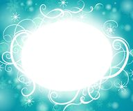 Snowflake Swirls Background Royalty Free Stock Photography