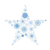Snowflake Tapestry in shape of star  Stock Images