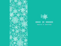 Snowflake Texture Horizontal Frame Seamless. Vector Colorful Snowflake Texture Horizontal Frame Seamless Pattern Background with drawn snowflakes on light blue Stock Images