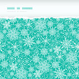 Snowflake Texture Horizontal Torn Seamless Pattern. Vector Colorful Snowflake Texture Horizontal Torn Seamless Pattern Background with drawn snowflakes on light Royalty Free Stock Images