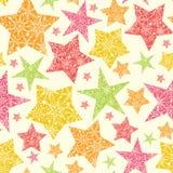 Snowflake Textured Christmas Stars Seamless Stock Image