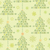 Snowflake Textured Christmas Trees seamless Stock Images