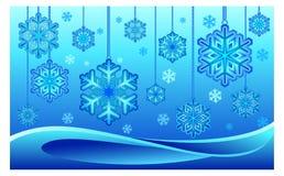 Snowflake on thread Royalty Free Stock Photos