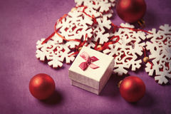 Snowflake toys and gift Royalty Free Stock Image