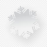Snowflake on transparent background. Vector illustration snowflake on transparent background, paper cut out art style stock illustration