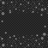 Snowflake transparent. White glittering snow dust trail sparkling particles, shimmer vector background. Snowfall effect. Glowing r. Snowflake transparent. White vector illustration