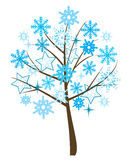 Snowflake tree Royalty Free Stock Images