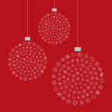 Snowflake Tree Ornaments Stock Image