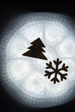 Snowflake Tree Silhouette Stock Photography