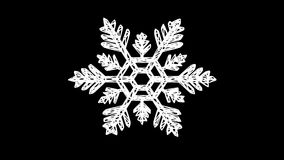 Snowflake turn around. 3D rendering. stock video footage