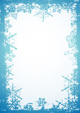 Snowflake, vector. Background with frame of snowflake,vector illustration Stock Image