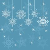 Snowflake in vector. Collection snowflake's for wishes card Stock Photography