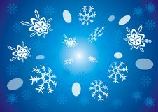Snowflake(vector). Winter, christmas,snowflakes, vector illustration winter wintertime ice snowflake background card merry christmas cold complicated crystal Royalty Free Stock Photo