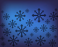 Snowflake vector background Royalty Free Stock Image