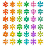 Snowflake Vector Icon Set Royalty Free Stock Photos