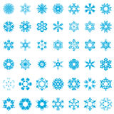 Snowflake vector illustrator set Stock Photos