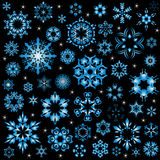 Snowflake vector illustrator set for christmas card or website Royalty Free Stock Photos