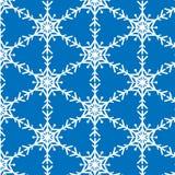 Snowflake vector pattern on blue royalty free illustration