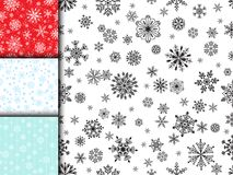 Snowflake vector seamless pattern weather traditional winter december wrapping paper christmas background. Royalty Free Stock Images